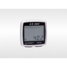 Спидометр электронный AS-880 цвет корпуса: 70бел, 15син, 15зел; цвет панели черн, 11 функций, Assize
